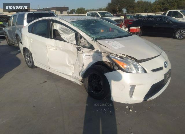Lot #1608745996 2014 TOYOTA PRIUS FOUR/FIVE/THREE/ONE/TWO salvage car