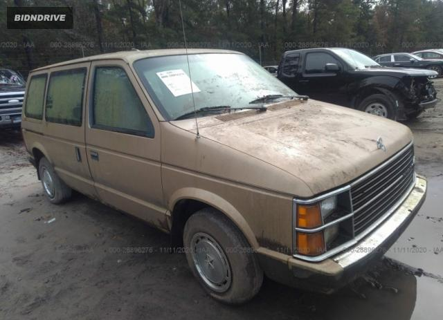 Lot #1610323543 1984 PLYMOUTH VOYAGER salvage car
