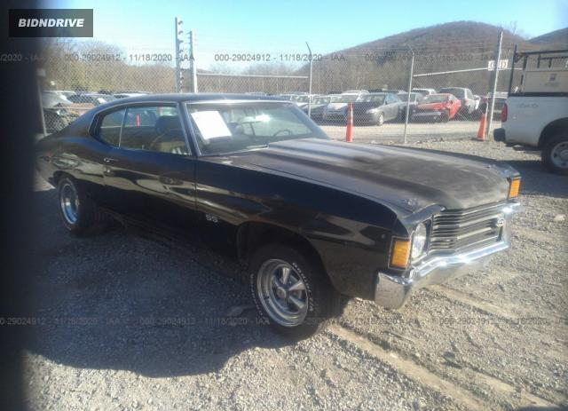 Lot #1611780463 1972 CHEVROLET CHEVELLE SS salvage car