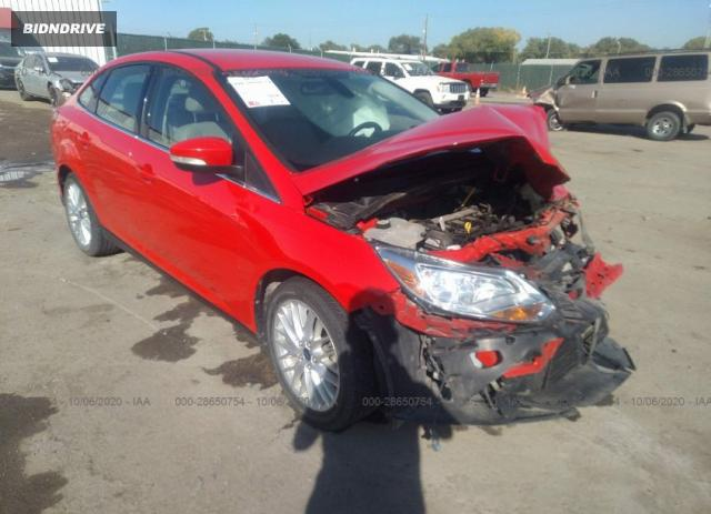 Lot #1614974706 2012 FORD FOCUS SEL salvage car