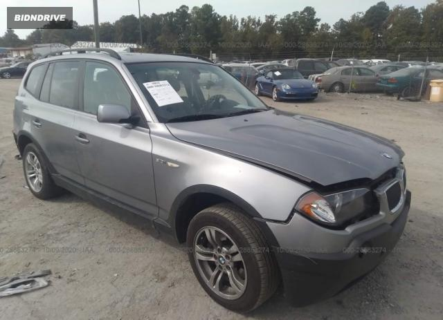 Lot #1615956703 2005 BMW X3 3.0I salvage car