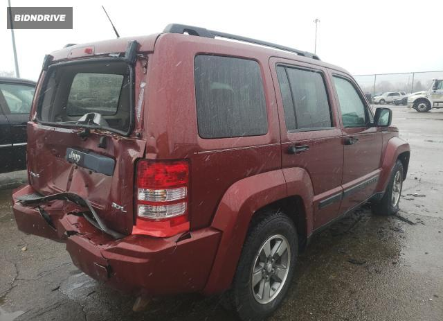 Lot #1623062813 2008 JEEP LIBERTY SP salvage car