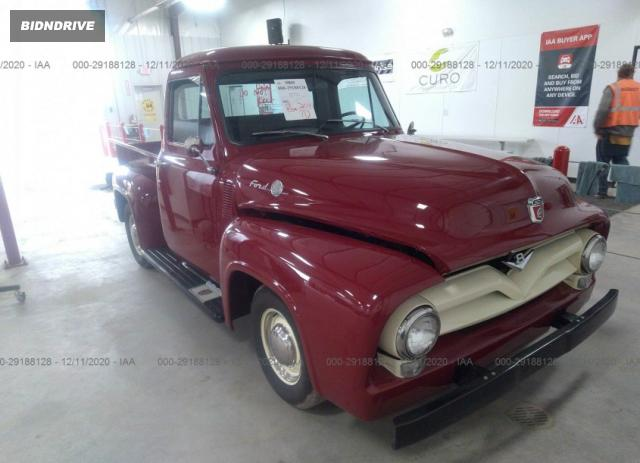 Lot #1636000703 1955 FORD F100 salvage car