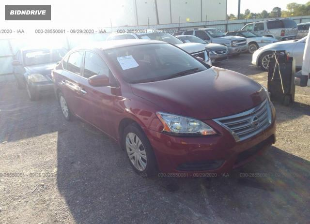 Lot #1639983569 2015 NISSAN SENTRA SV salvage car
