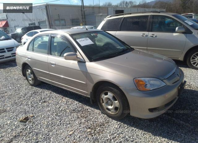 Lot #1659646219 2003 HONDA CIVIC HYBRID salvage car