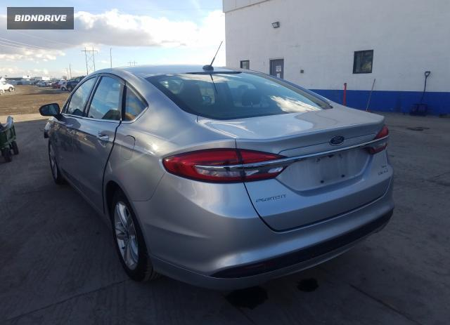 Lot #1677822103 2018 FORD FUSION SE salvage car