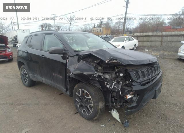 Lot #1680683779 2019 JEEP COMPASS TRAILHAWK salvage car