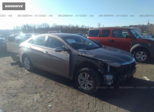 Lot #1681195029 2014 HYUNDAI SONATA GLS salvage car