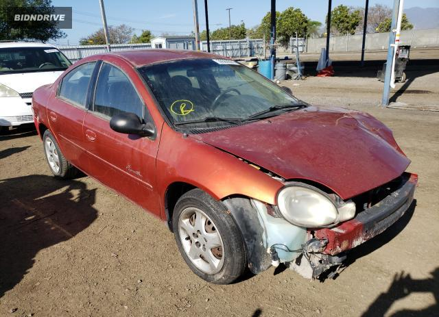 Lot #1684381363 2000 PLYMOUTH NEON salvage car
