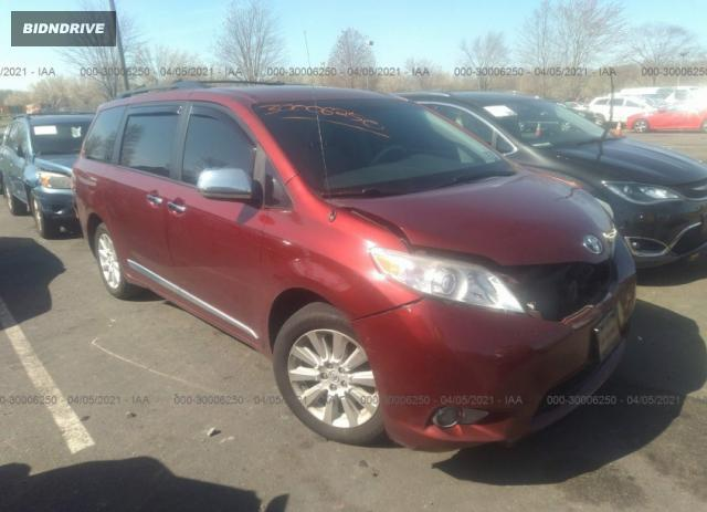 Lot #1714212499 2014 TOYOTA SIENNA LE salvage car