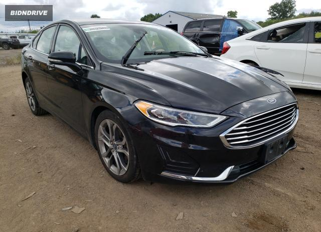 Lot #1727776709 2020 FORD FUSION SEL salvage car
