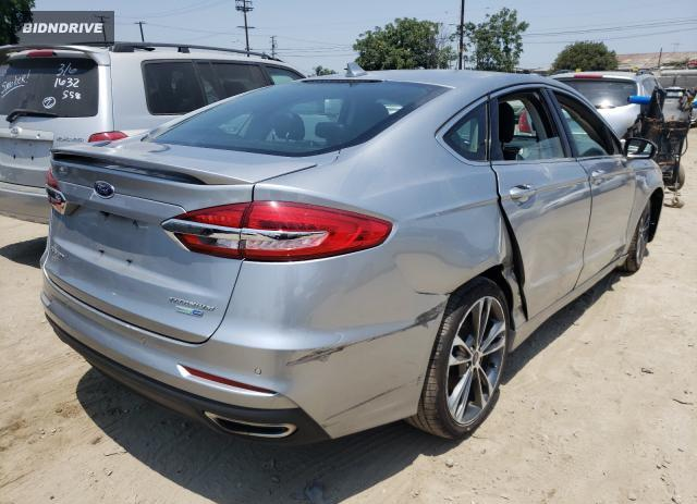 Lot #1731270486 2020 FORD FUSION TIT salvage car