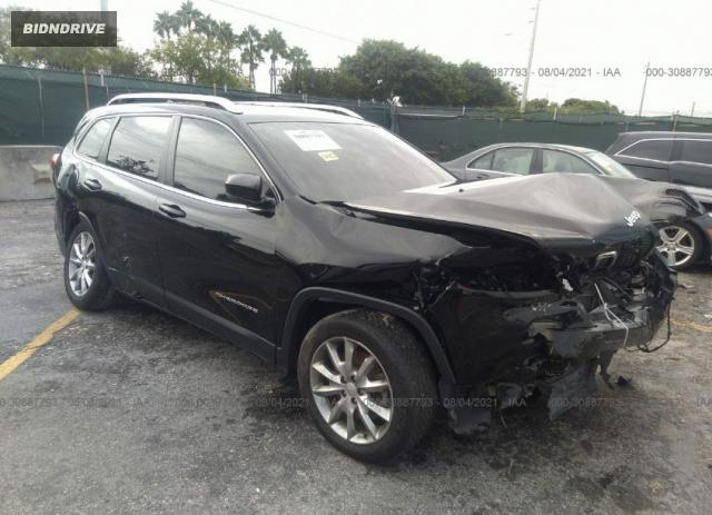 Lot #1764144163 2018 JEEP CHEROKEE LIMITED salvage car
